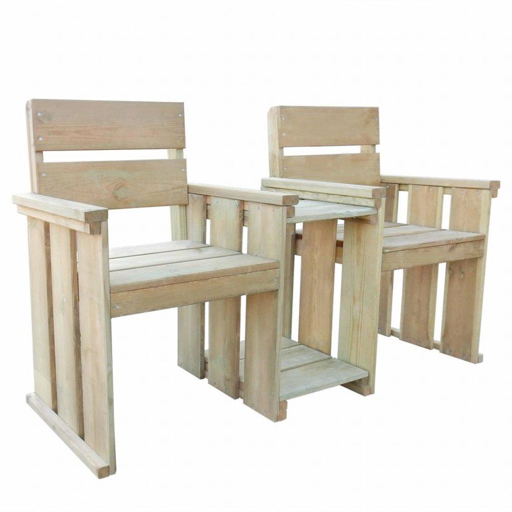 Zahradní lavička se stolkem z borovicového dřeva