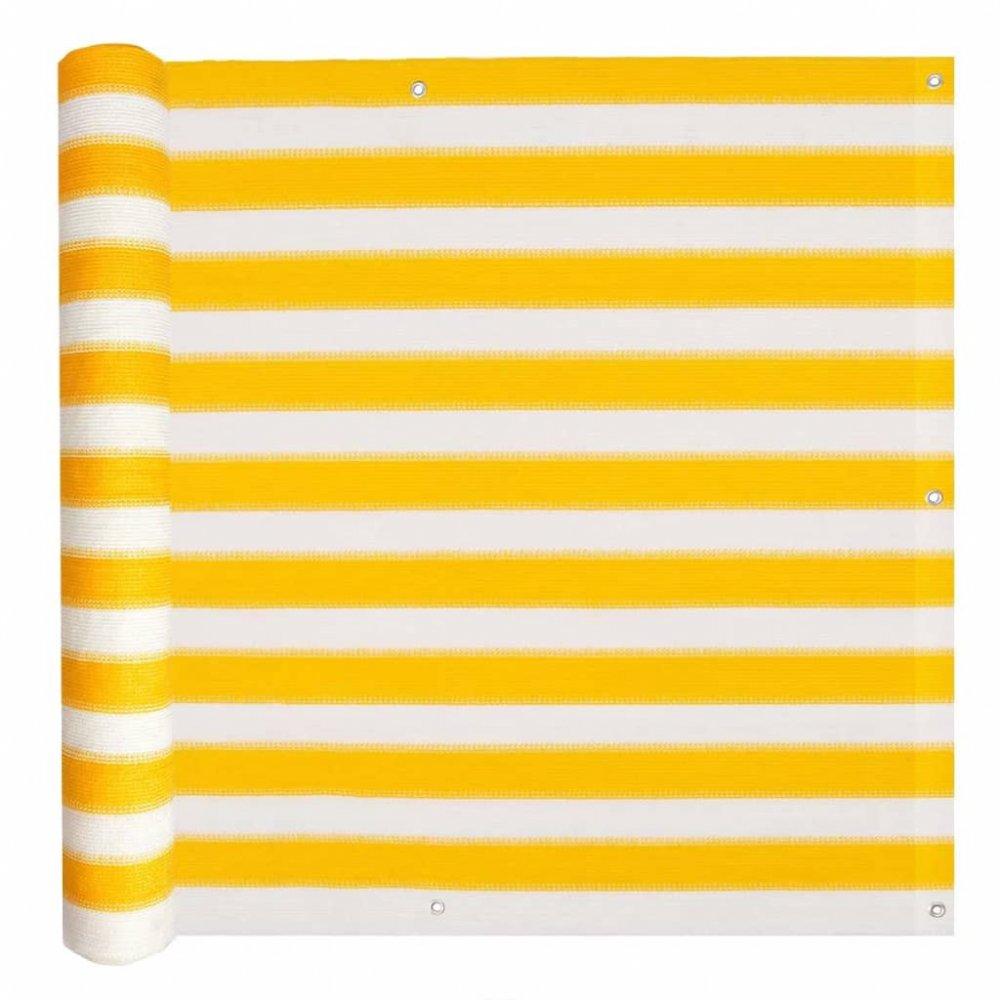Balkónová zástěna HDPE 90 x 400 cm Bílá / žlutá