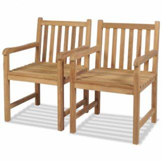 Zahradní židle 2 ks hnědá