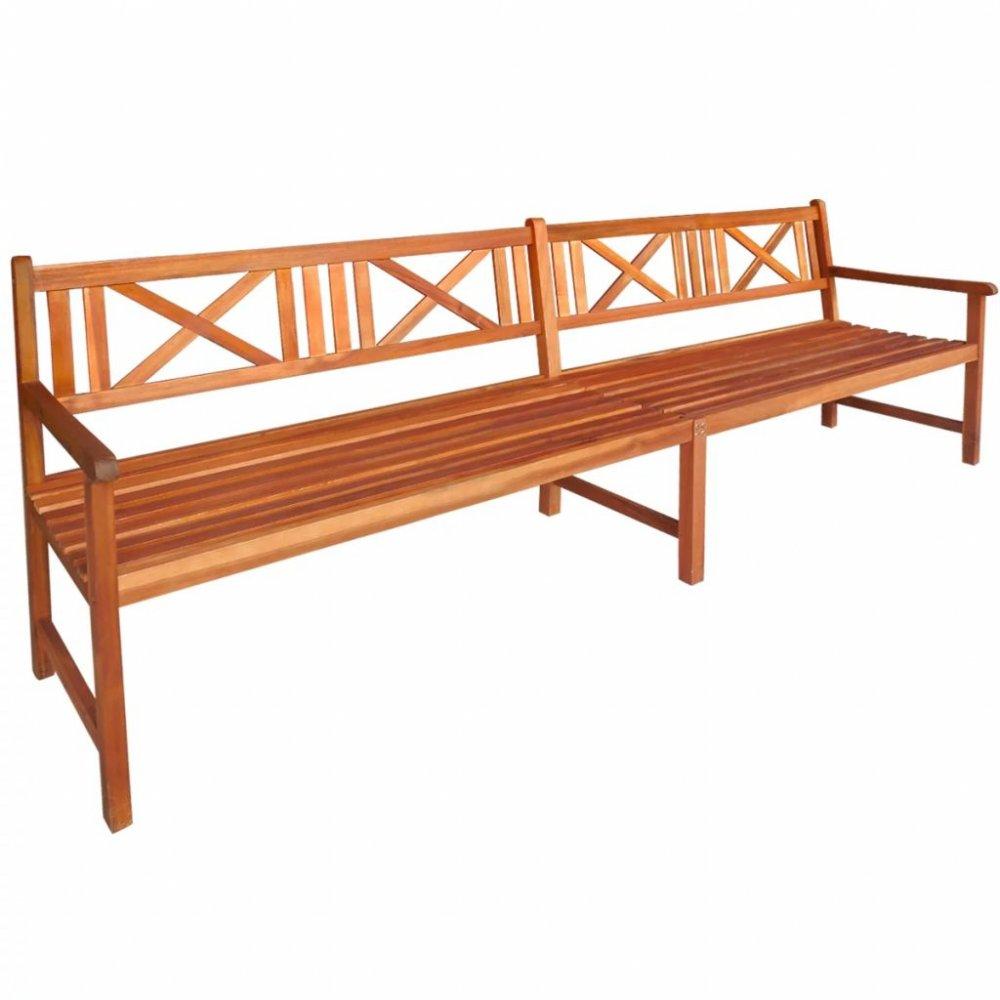 Zahradní lavička 240 cm z akáciového dřeva