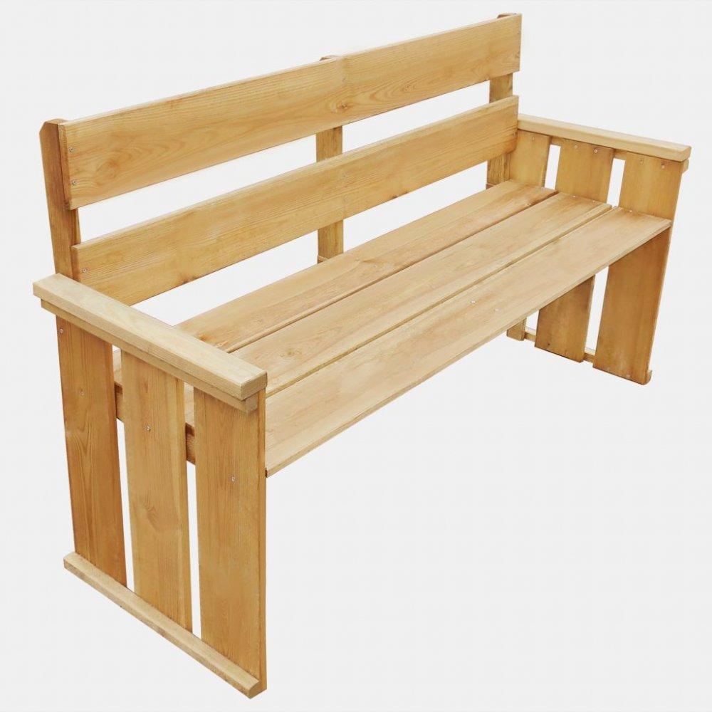 Zahradní lavička 160 cm z borovicového dřeva