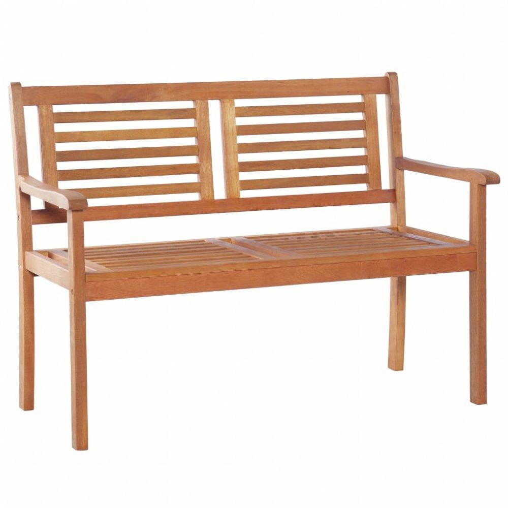 Zahradní lavička s opěradlem 120 cm z eukalyptového dřeva