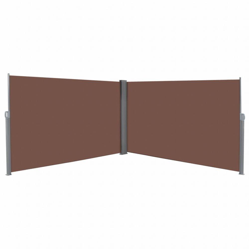 Zatahovací postranní markýza / zástěna 180x600 cm Hnědá