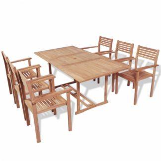 Zahradní jídelní set 7 ks teakové dřevo