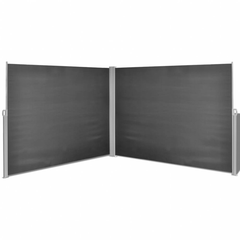 Zatahovací postranní markýza / zástěna 180x600 cm Černá