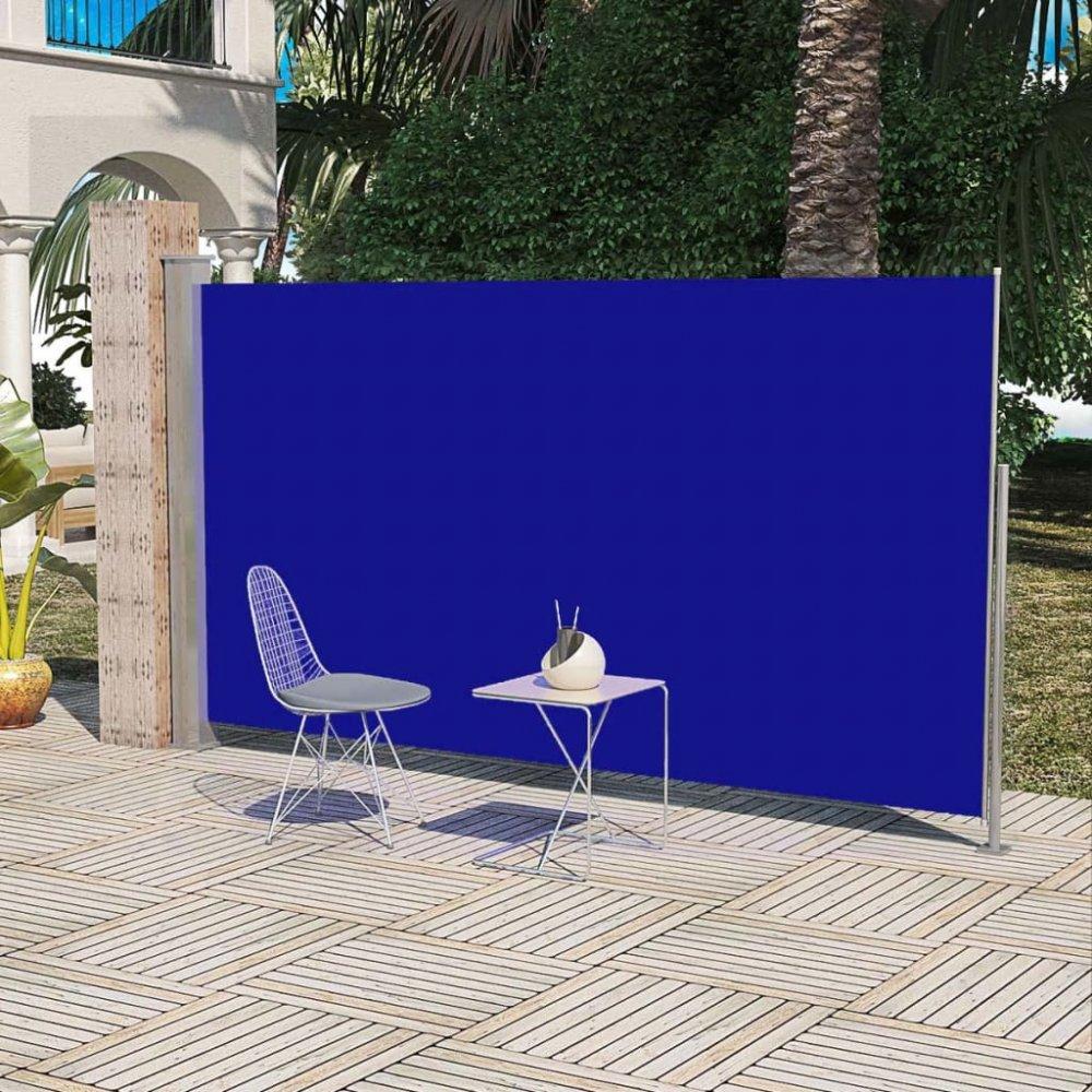 Boční markýza na terasu / balkonová zástěna 180 x 300 cm Modrá