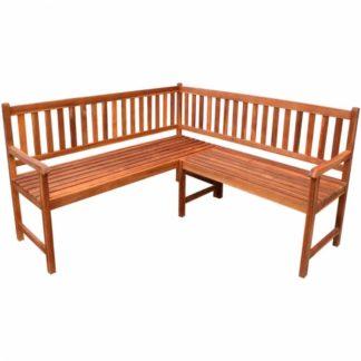 Rohová zahradní lavička z akáciového dřeva