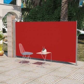 Boční markýza na terasu / balkonová zástěna 180 x 300 cm Červená