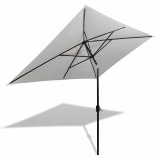 Zahradní slunečník s kovovou tyčí 300 x 200 cm Písková