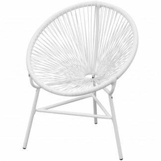 Zahradní židle polyratanová bílá