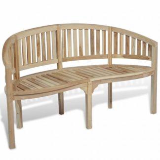 Zaoblená zahradní lavička 151 cm z teakového dřeva