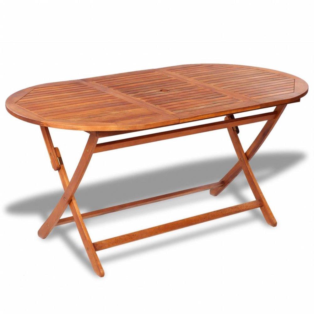 Zahradní jídelní stůl akáciové dřevo Dekorhome