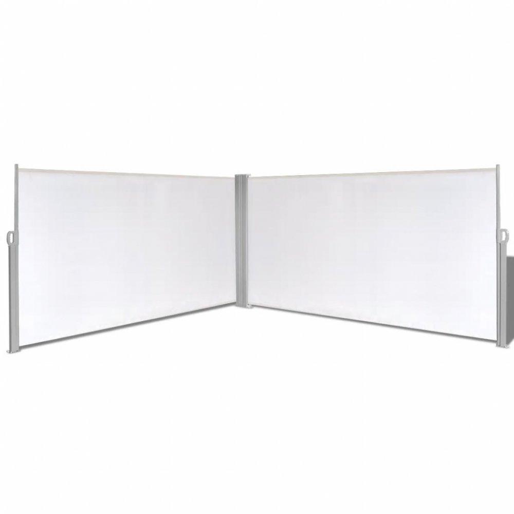Zatahovací postranní markýza / zástěna 160x600 cm Krémová