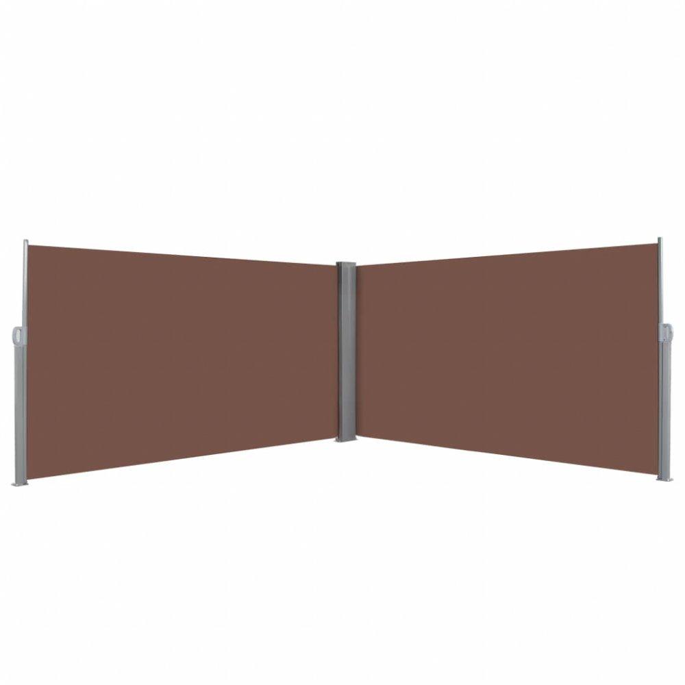 Zatahovací postranní markýza / zástěna 160x600 cm Hnědá
