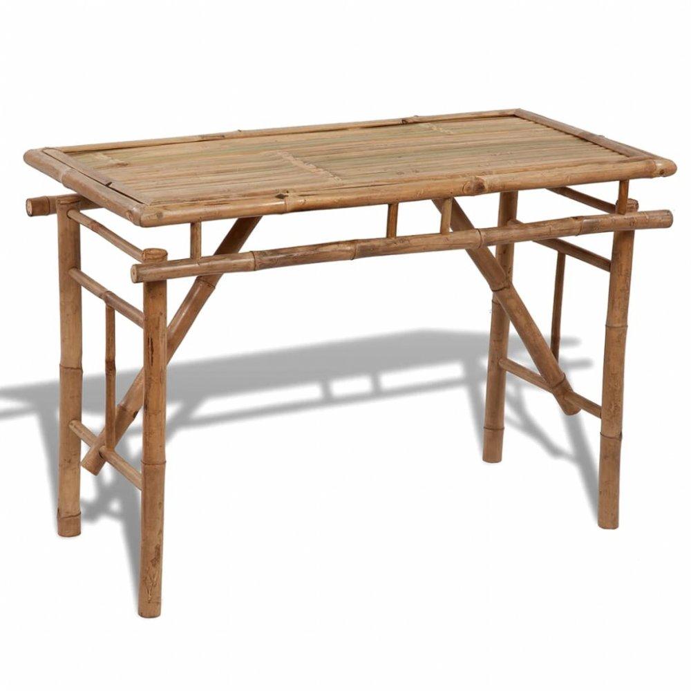 Zahradní skládací stůl 120x50 cm bambus