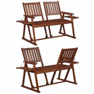 Oboustranná zahradní lavička z akáciového dřeva