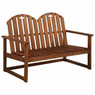 Dvoumístná zahradní lavička z akáciového dřeva