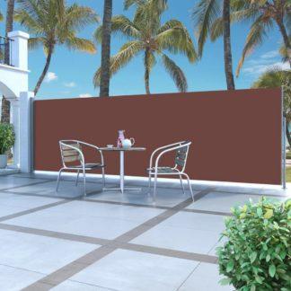 Zatahovací boční markýza / zástěna 160 x 500 cm Dekorhome Hnědá