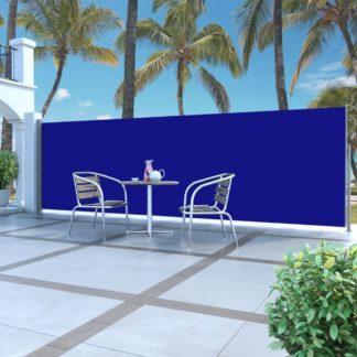 Zatahovací boční markýza / zástěna 160 x 500 cm Dekorhome Modrá