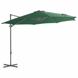 Konzolový slunečník Ø 300 cm Dekorhome Zelená