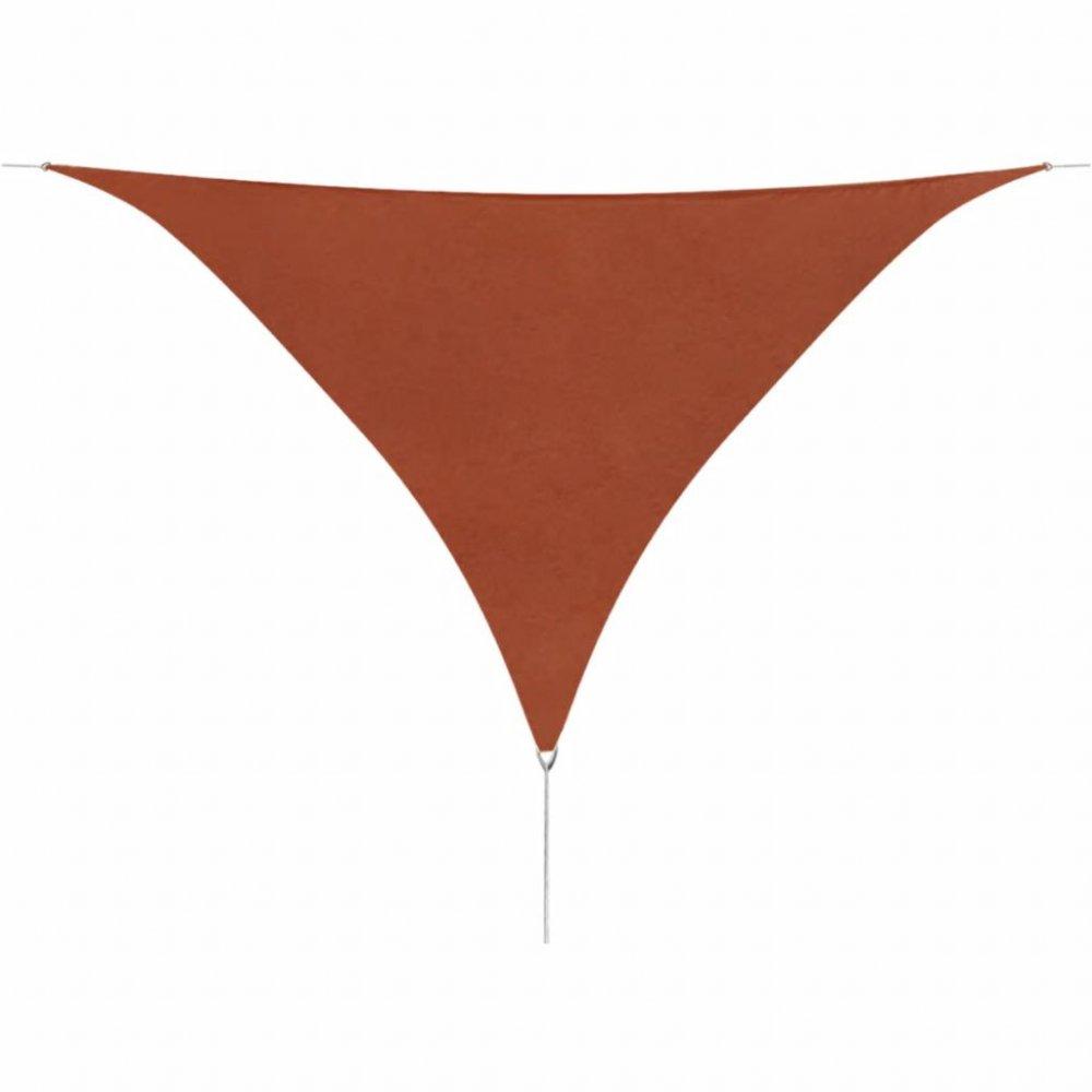 Plachta proti slunci oxfordská látka trojúhelník 3,6 x 3,6 x 3,6 m Cihlová