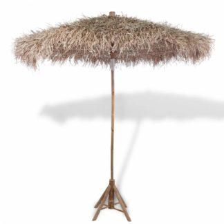Bambusový slunečník se střechou z banánových listů Ø 270 cm