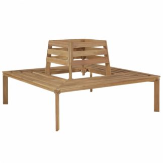 Čtvercová lavička kolem stromu z akáciového dřeva
