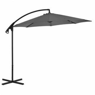 Konzolový slunečník s ocelovou tyčí Ø 300 cm Antracit