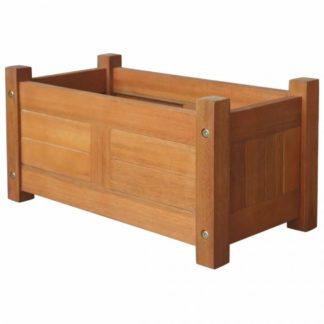 Zahradní truhlík 50 x 25 x 25 cm z akáciového dřeva