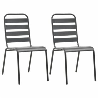 Stohovatelné zahradní židle 2ks šedá