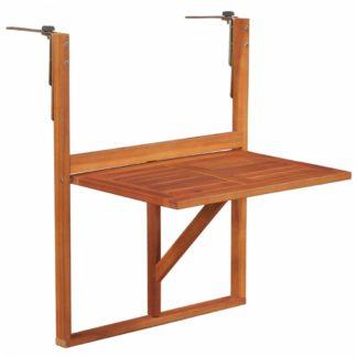 Závěsný balkonový stolek z akáciového dřeva Dekorhome