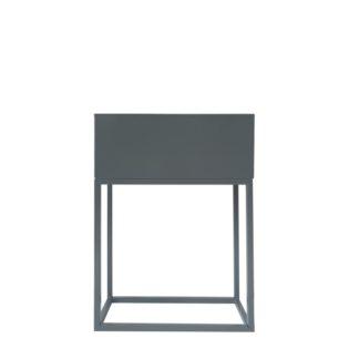 Multifunkční kovový květináč INDIZE TYP 2 Tempo Kondela Tmavě šedá