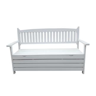 Zahradní lavička AMULA s úložným prostorem Tempo Kondela Bílá