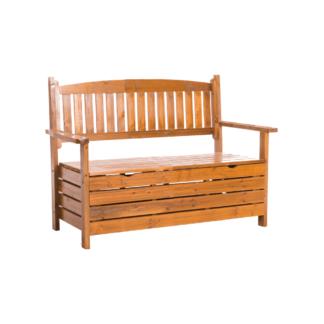 Zahradní lavička DILKA s úložným prostorem Tempo Kondela Hnědá