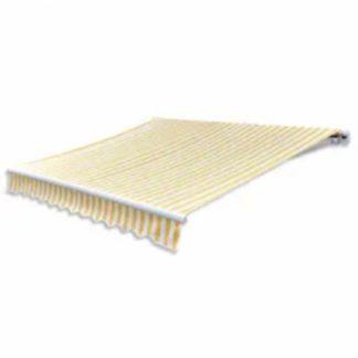 Skládací markýza na dálkové ovládání 600 cm Dekorhome Bílá / žlutá