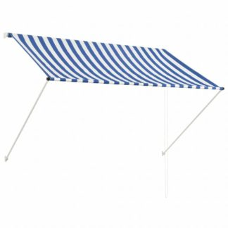 Zatahovací markýza 200x150 cm Dekorhome Bílá / modrá