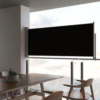 Zatahovací boční markýza 100x300 cm Dekorhome Černá