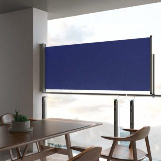 Zatahovací boční markýza 100x300 cm Dekorhome Modrá