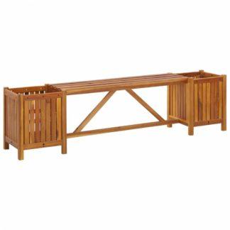 Zahradní lavička s truhlíky z akáciového dřeva