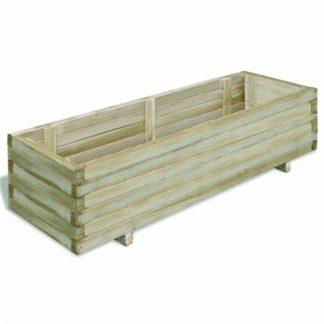 Zahradní truhlík 120 x 40 x 30 cm z borovicového dřeva
