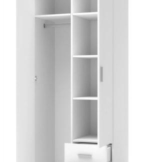 Šatní skříň LIMA S-2 Halmar Bílá