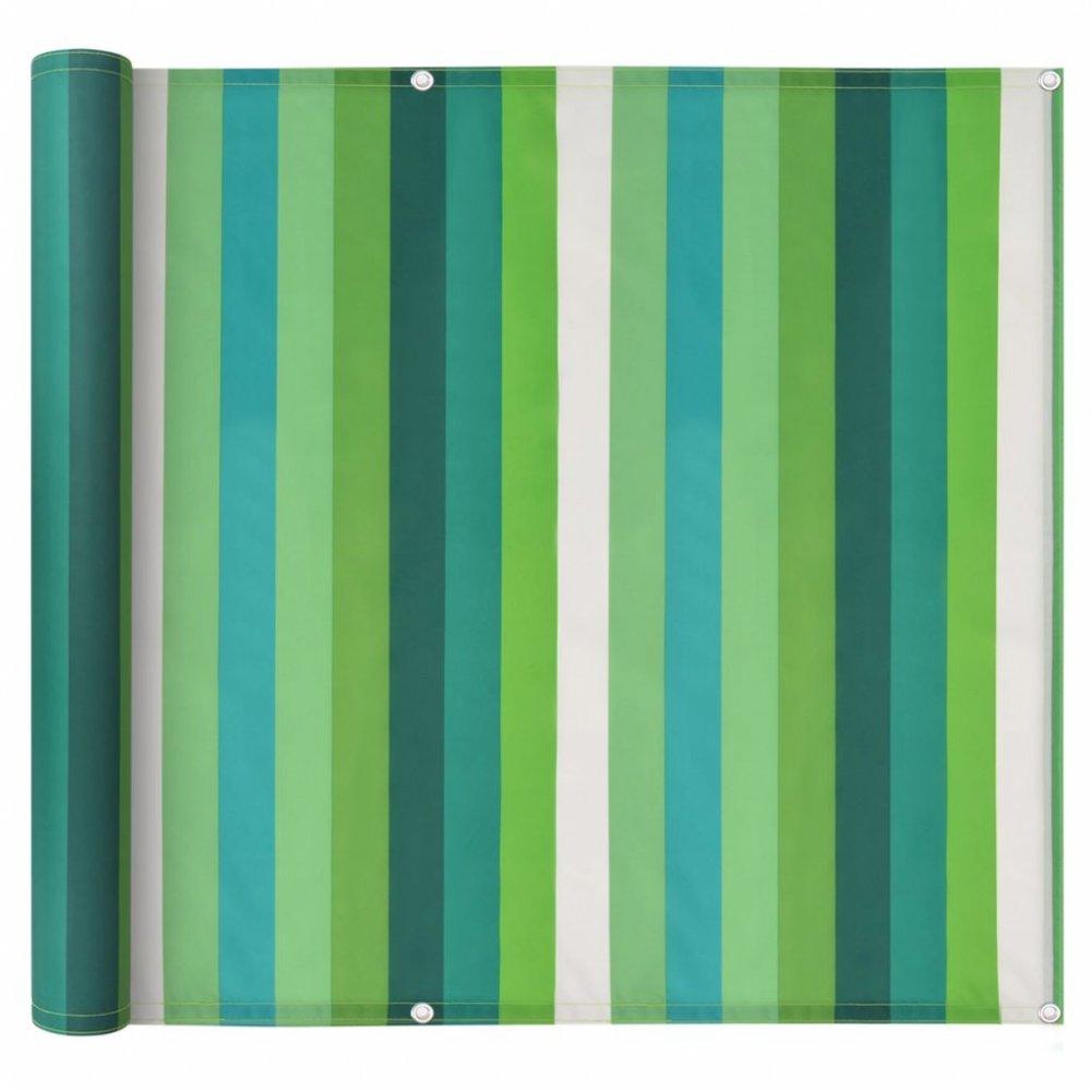 Balkónová zástěna 90 x 400 cm oxfordská látka Zelený proužek