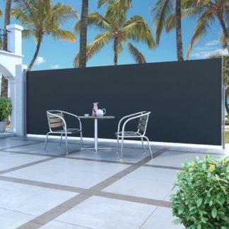 Zatahovací boční markýza / zástěna 160 x 500 cm Dekorhome Černá
