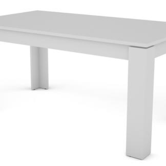 Jídelní stůl Inter 160x80 cm, bílý, rozkládací
