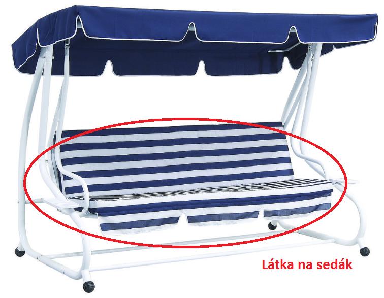 látka na sedák DE LUXE ROJAPLAST Modrá