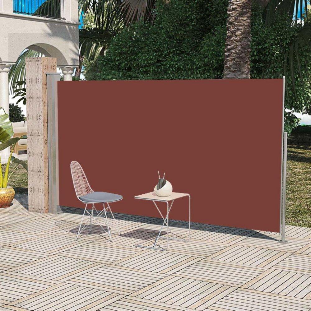 Zatahovací boční markýza 160x300 cm Dekorhome Hnědá