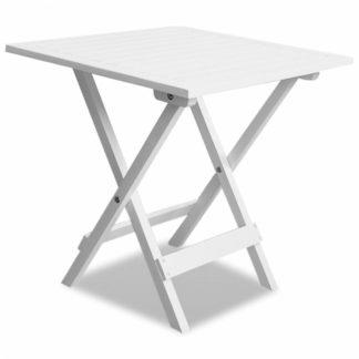 Zahradní stolek z akáciového dřeva bílý Dekorhome