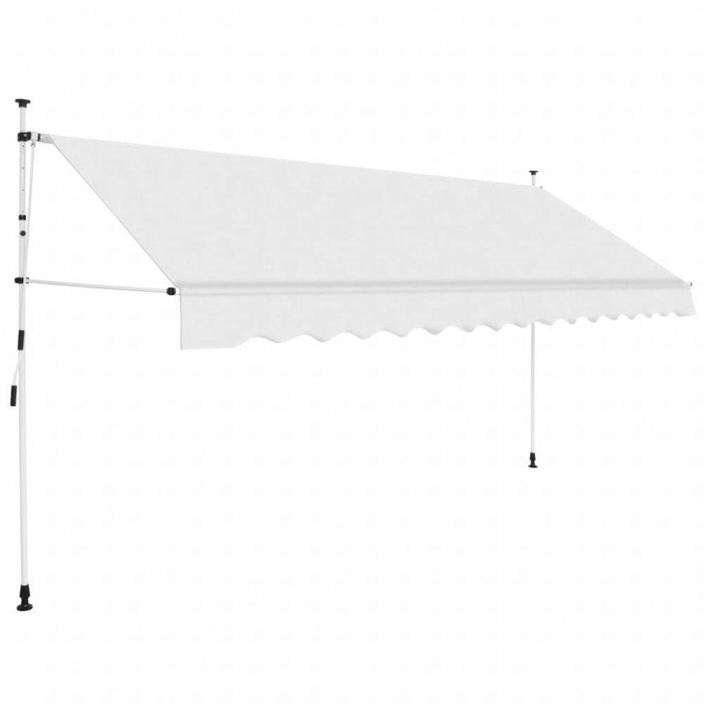 Ručně zatahovací markýza 350 cm Dekorhome Krémová
