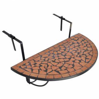 Závěsný mozaikový stolek keramika Dekorhome Cihlová