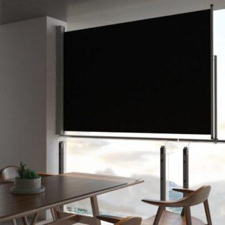 Zatahovací boční markýza 160x300 cm Dekorhome Černá